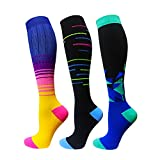 1/3/6/7 Pairs Compression Socks for Women&Men (20-30mmHg)- Best for Running,Travel,Cycling,Pregnant,Nurse, Edema