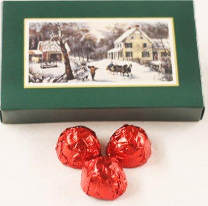 Scott's Cakes Dark Chocolate Covered Cherry Brandy Cherries in a 8 oz. Homestead Box