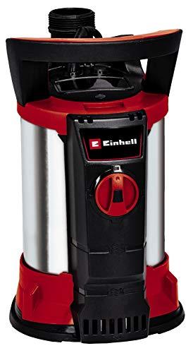 Einhell Klarwasserpume GE-SP 4390 N-A LL ECO (430 Watt, 9000 L/h, max. Förderhöhe 8 m, Anschluss 47,8 mm (G11/2 AG), Rückschlagventil, Kunststoff-Edelstahl-Gehäuse, inkl. Universalanschluss)