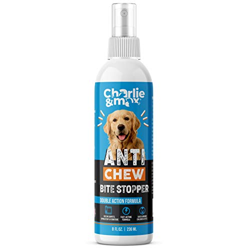 Charlie & Max Anti-Chew Bite Stopper - Fast-Acting Chew Deterrent Spray for Dogs, Cats, Other Small Pets, Chewing & Biting Repellent, Pet-Safe Formula, Non-Toxic, 8 Oz.
