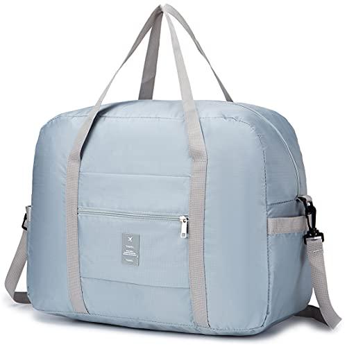 SPAHER Ligera Bolsas de Viaje Mujer Hombre Fin de Semana Plegable Ultraligera Equipaje de Mano Bolsa Maternidad Bolsa Hospital Duffle Bag 40L