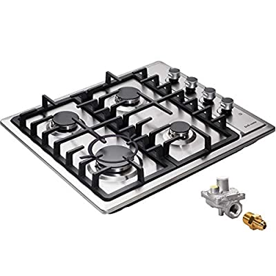 """24"""" Gas Cooktop Dual Fuel 4 Sealed Burners Stainless Steel drop-In Gas Hob Gas Burner DM425-SA01Z Gas Cooker"""