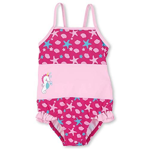 Sterntaler Baby - Mädchen Badeanzug mit Windeleinsatz, UV-Schutz 50+, Alter: 6-12 Monate, Größe: 74/80, Farbe: Magenta