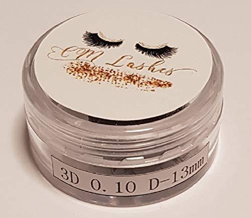 Wimpernverlängerung CM Lashes Lose Volumen Wimpern 3D,D,0.10,13mm,Volume Eyelash