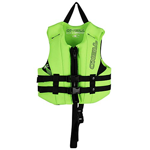 O'Neill Wetsuits Child Reactor USCG Life Vest, Dayglo/Dayglo/Black, 1SZ, 30-50 lbs