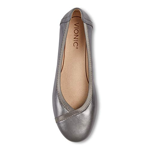Vionic Women's Spark Caroll Ballet Flat - Ladies Dress Casual Shoes with Concealed Orthotic Arch Support Natural Snake 5 Medium US
