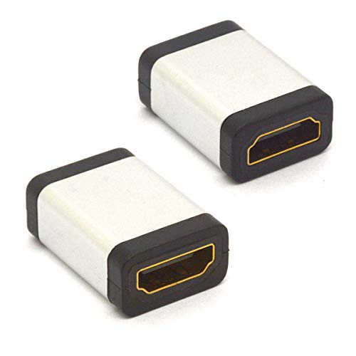 Acoplador HDMI, HDMI hembra a hembra, conector adaptador HDMI tipo A, compatible con 4k2k 60HZ Ethernet UHD 3D HDR ARC para ordenador portátil PC Roku TV Stick Chromecast Xbox PS (paquete de 2)