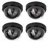 NONMON 4 Pack Dummy Sicherheits Dome Kameras mit blinkenden LED