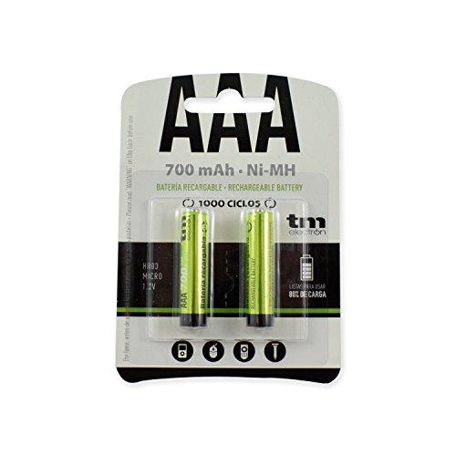TM Electron TMVH-AAA700H - Pack de 2 Pilas Recargables, Color Verde