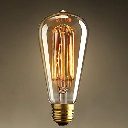 Edison Lichter Kerzen Licht Glühbirnen Led Lampen 1 Stücke St64 E27 220 V Lightin Box Vintage Edison Birne Klarglas Glühbirnen Glühlampen Silk Glühbirne-60 Watt
