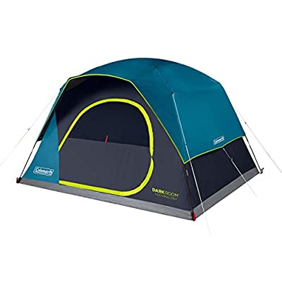 Coleman 6-Person Dark Room Skydome Camping Tent, Blue