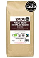Grains de café péruvien, biologique, fairtrade Coffee Masters 1kg - Lauréat du Great Taste Award 2018