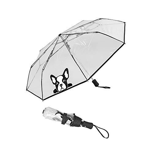 Susino Parapluie pliant - automatisch transparant chien paraplu, 29 cm, (Chien)