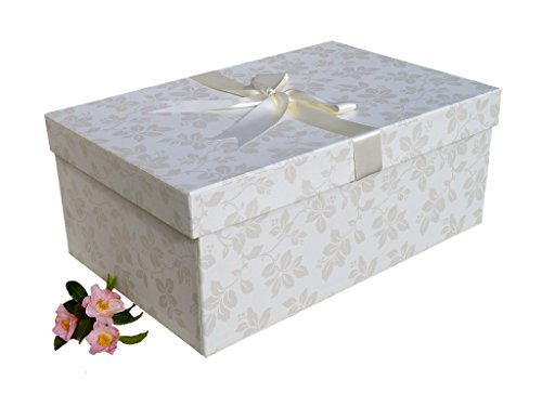 X Large Handmade Wedding Dress Box (Claremont Ivory) 75cm x 50cm x 30 cm)
