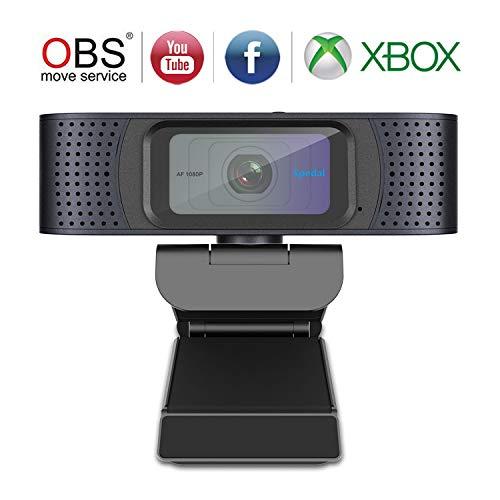 Spedal Cámara Web Streaming Xbox 1080P Webcam con Cover Slide Enfoque Automático Webcam USB y Micrófono