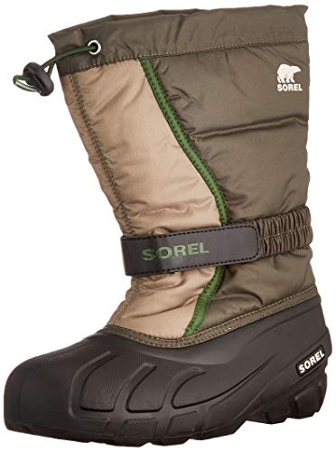 Sorel Youth Flurry Boot for Rain and Snow - Waterproof - Alpine Tundra - Size 4