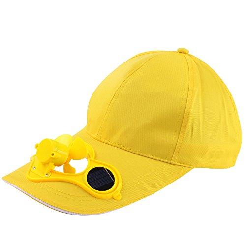 QiFei Cappello unisex per sport all'aria aperta, con griglia a rete, con ventilatore, tappo con...