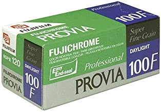 Fujifilm Fujichrome Provia 100F Color Reversal Film ISO 100, 120mm, 5 Roll Pro Pack