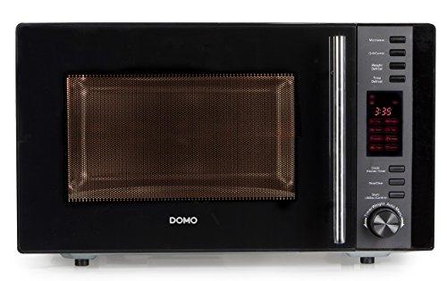 Domo DO 2425 G Mikrowelle / Inhalt 25 L / Leistung und Grill 900 W und 1000 W / schwarz / silber