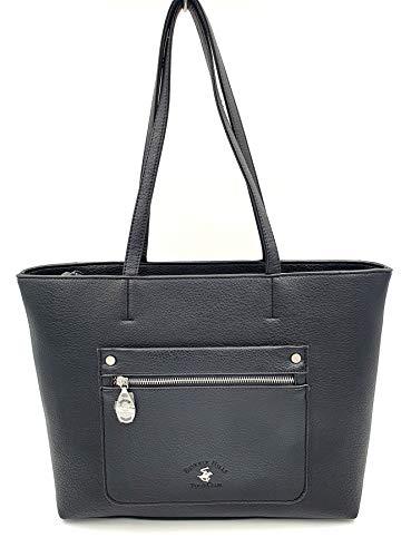 BEVERLY HILLS POLO CLUB Bolso shopper con bandolera color negro Dimensiones: 34 x 28 x 15