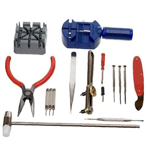 Angoter 16pcs Uhr-Reparatur-Set Geräte KitWatchmaker Werkzeug-Uhr-Shop Zubehör Uhr Uhr-Werkzeug-Set