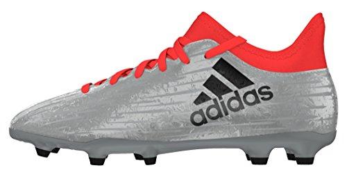 adidas X 16.3 FG J, Botas de fútbol para Niños, Plata (Plamet/Negbas/Rojsol), 36 EU