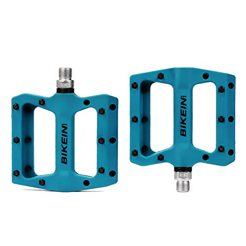 """BIKEIN PRO Mountain Bike Pedals Platform Flat Pedal Sealed Bearing 9/16"""" Nylon Pedals with Wrench"""