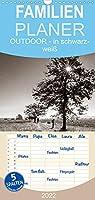 OUTDOOR - Natur- und Landschaftsbilder in schwarz-weiss - Familienplaner hoch (Wandkalender 2022 , 21 cm x 45 cm, hoch): Stimmungsvolle Landschaftsfotos in schwarz-weiss (Monatskalender, 14 Seiten )