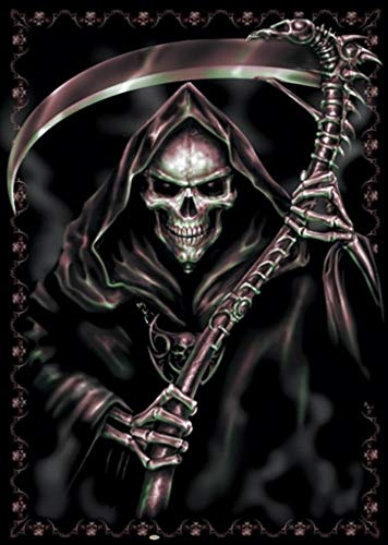 Spiral Assassin Grim Reaper of Death with Scythe Fantasy Horror Biker Cool Wall Decor Art Print Poster 24x36