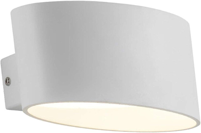 Wandleuchte, Zimmer Gang Gang Wandleuchte, Nachttischlampe Creative Wandleuchte (8  5,6  4,4 Zoll) (Farbe   Weiß)