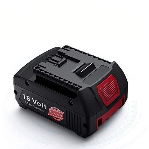 Boetpcr 18V 5.0Ah BAT609 Reemplazo para Bosch Batería Lítio-Ion Profesional Sin Cable CoolPack GBA BAT609G BAT610G BAT618G BAT619 BAT621 BAT620 con Indicador LED Herramientas eléctricas