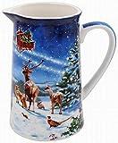 The Leonardo Collection LP51565 Magic of Christmas Milk/Cream Jug, Fine China, Multicolour, 13x9x14cm