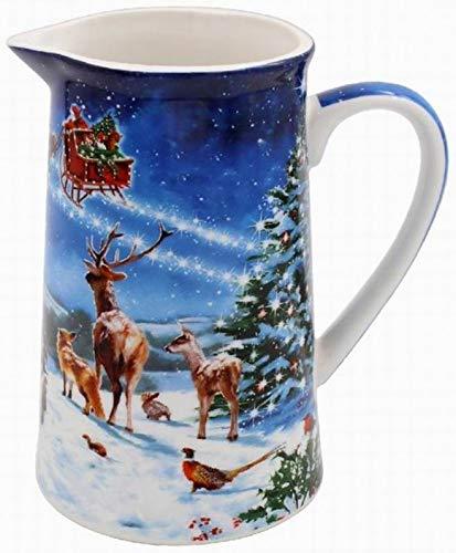 The Leonardo Collection LP51565 Magic of Christmas Pot à lait en porcelaine fine, multicolore, 13 x 9 x 14 cm