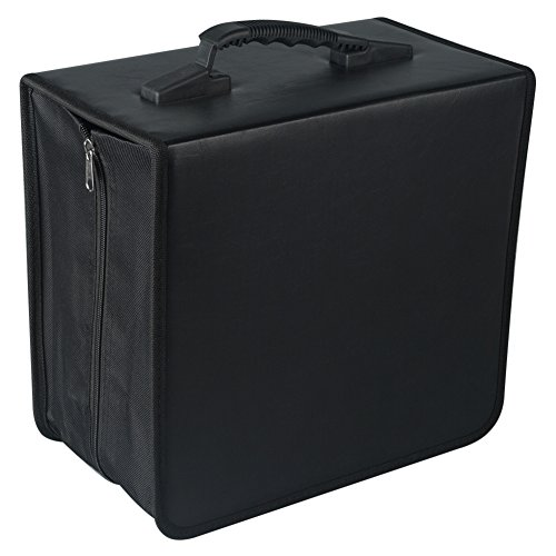 Fasmov 400 Disc CD/DVD Binder DVD Wallet Case with Black CD Storage Pages
