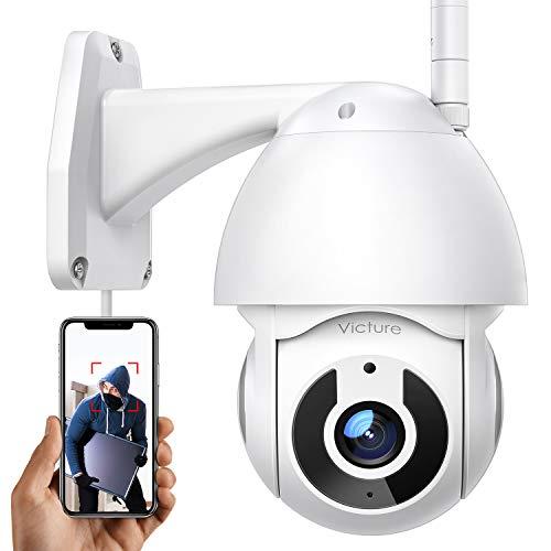 Überwachungskamera Aussen Victure 2.4G WLAN IP Kamera mit 1080P Nachtsicht für die Sicherheit zu Hause IP66 wasserdichte PTZ 360 ° Motion Tracking 2-Wege-Audio Kompatibel mit Android/IOS
