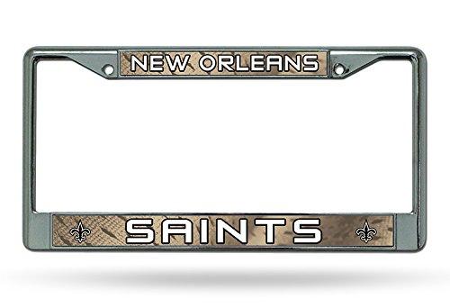 Preisvergleich Produktbild Caseys Verteilen 9474609950 New Orleans Saints Chrome License Plate Frame