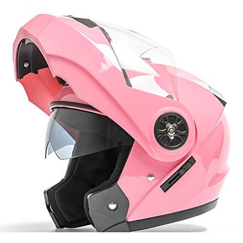 Generic Casco moto integrale Visiera doppia Visiera modulare apribile Sun Shield Caschi moto Apribili e modulari uomo Moto Casco da Ciclomotore Caschi