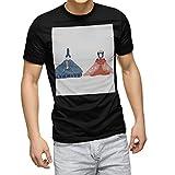 igsticker プリント Tシャツ メンズ 3XL size サイズ おしゃれ クルーネック 黒 ブラック t-shirt 015844 ひな祭り 節句 お雛様