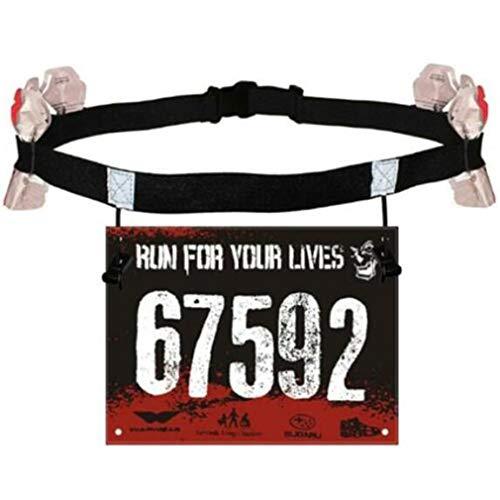 Grandiy Running Race Number Bib Belt with for Running Cycling Triathlon Marathon