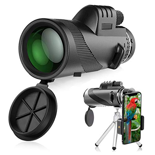 Telescopio Monoculare, innislink 40x60 HD Zoom Cannocchiale Telescope portatile con adattatore e treppiede Telescopio Monocolo per il Bird Watching Caccia Campeggio Trekking partita di calcio Concerti