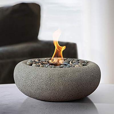 Terra Flame OD-TT-ZEN-PTR-03 Table Top Fire Bowl, Pewter