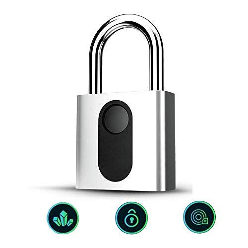 Candado de huellas digitales, inteligentes anti-robo de carga USB IP65 a prueba de agua candado for la puerta, Caja fuerte, bicicletas, Gimnasio Locker, la maleta del equipaje, armario de la escuela