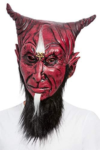 Smiffys Bearded Satanic Devil Overhead Mask, Latex