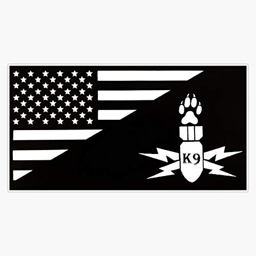 K9 Explosive Detection Vinyl Waterproof Sticker Decal Car Laptop Wall Window Bumper Sticker 5'