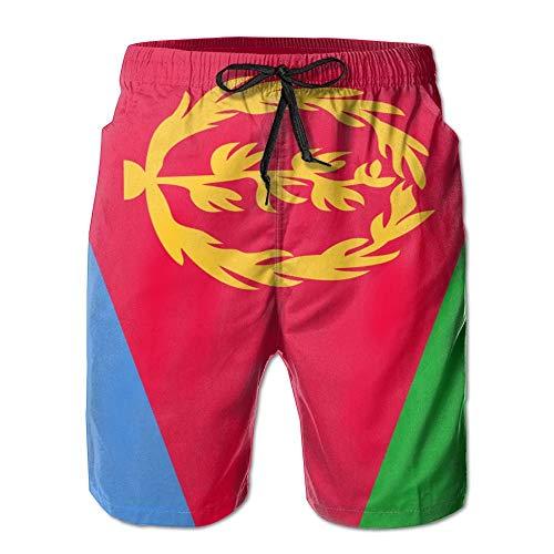 Zhengzho Flagge von Eritrea Bequeme Männer Sommer Surfen Schnelltrocknende Badehose Strandshorts Strandhose mit Tasche