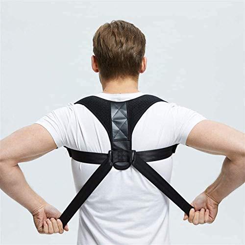 YXYOL Fully Adjustable Straightener Comfy Brace Posture Corrector for Men and Women Back Brace for Mid, Upper Spine Support- Neck, Shoulder, Clavicle and Back