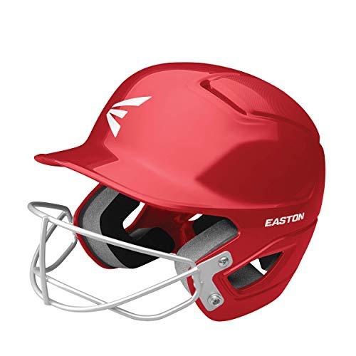 Easton Unisexs ALPHA Fastpitch Softball Batting Helmet with Mask Baseball Protective Red ML