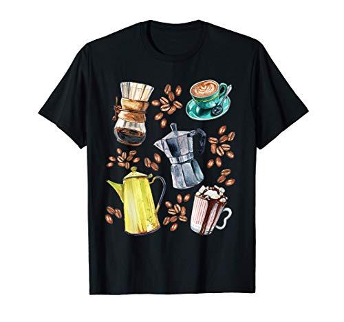 Barista Grafik / Kaffee Design / Espresso Stil / Café Look T-Shirt