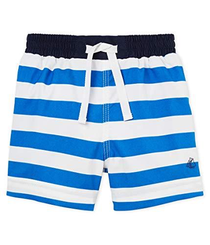 Petit Bateau Baby-Jungen Belgrade Shorts, Mehrfarbig (Riyadh/Marshmallow 01), 62 (Herstellergröße: 3M/60cm)