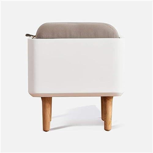 CAOYUPetit tabouret Créatrice simple tabouret de selles selles chambre moderne stockage de bois solide sac souple Tabouret de maquillage tabouret nordique (39.5  39.5  44cm) (Couleur   E)